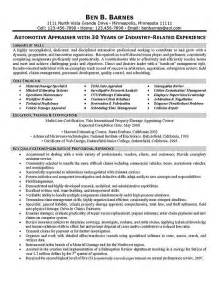 Property Appraiser Sle Resume by Property And Casualty Insurance Underwriter Resume