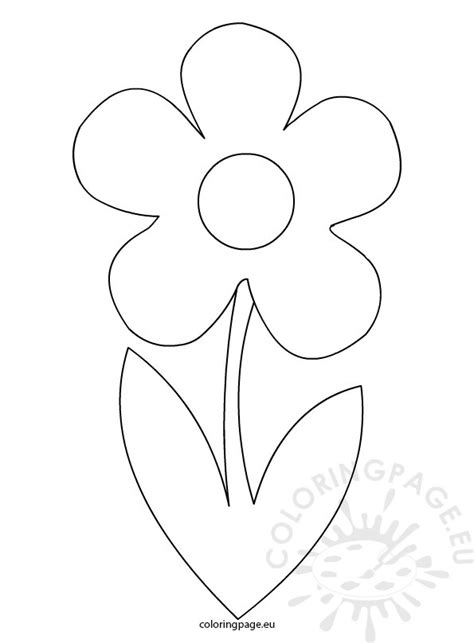 flower template for coloring free coloring pages of flower with stem