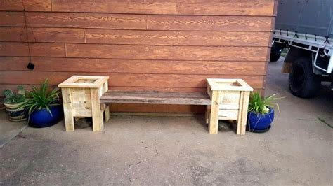 pallet seat pallet bench seat and planter box 101 pallet ideas