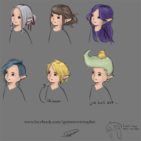 male hairstyles ffxiv 新生ff14 海外ユーザーがミコッテに続きララフェルのヘアスタイルも考案 1つだけ圧倒的存在感を放ってる髪形がある