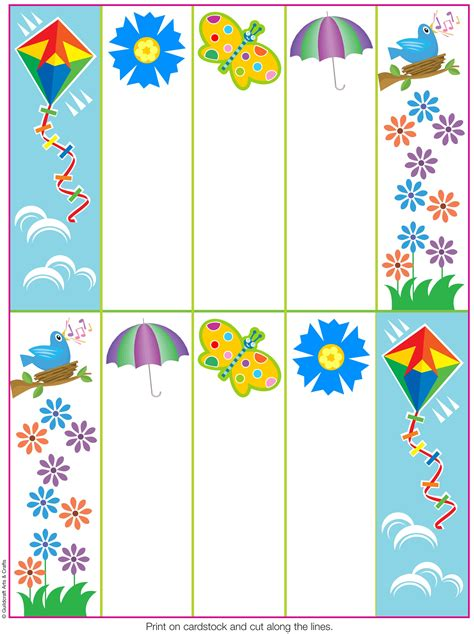 Printable Bookmarks Spring | 7 best images of printable bookmarks to color spring
