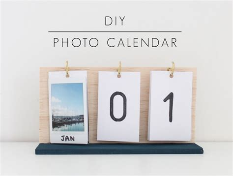 diy desk calendar diy instax photo calendar crafts