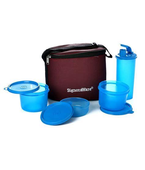 Lunch Box Kertas Ukuran Medium signoraware combo executive lunch medium with bag 521 blue buy at best price in