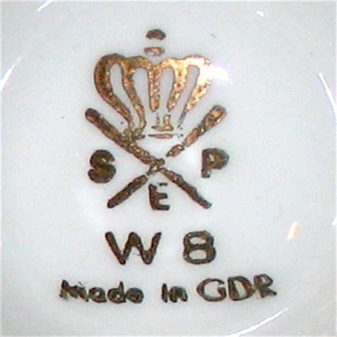 Porzellanmarken Krone W by Form 1000 Made In Gdr