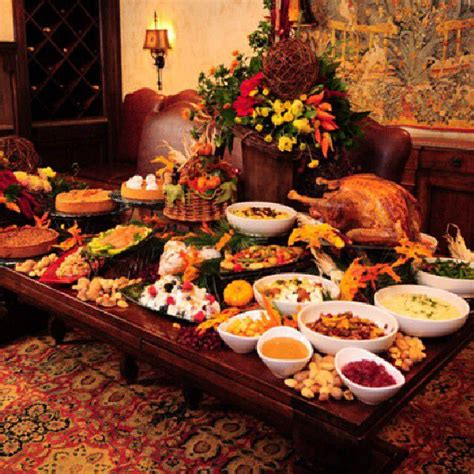 thanksgiving buffet table decorating ideas 10049