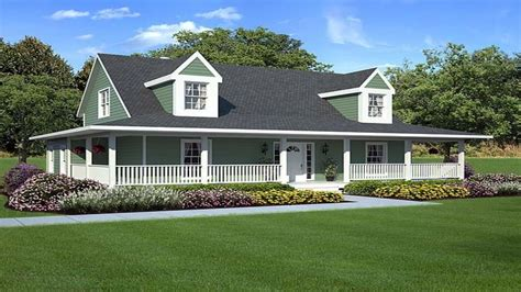 Wrap Around Porch Home Plans by Southern House Plans With Wrap Around Porch Mediterranean