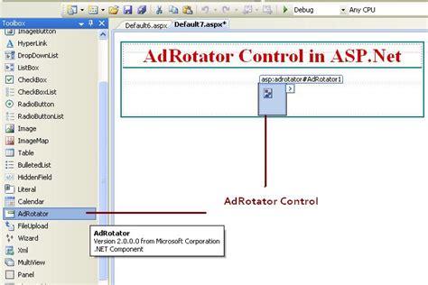 design menu control in asp net adrotator control in asp net c