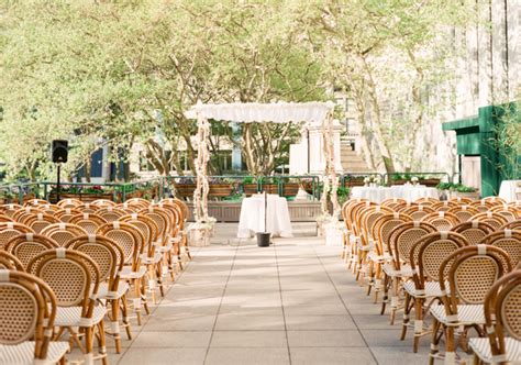 free outdoor wedding venues new york nyc bryant park rooftop ceremony venue elizabeth