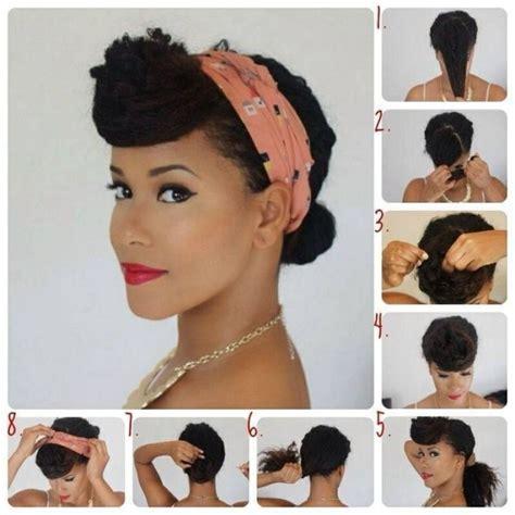 natural pin up hairstyles for black women bandana binden 26 tolle bandana firsuren mit anleitung