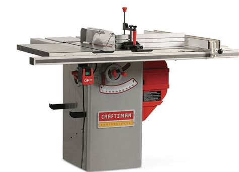 sears hybrid table saw craftsman 22124 hybrid tablesaw finewoodworking