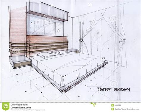 How To Draw House Floor Plans by Illustration Du Croquis 3d Pour Une Chambre 224 Coucher