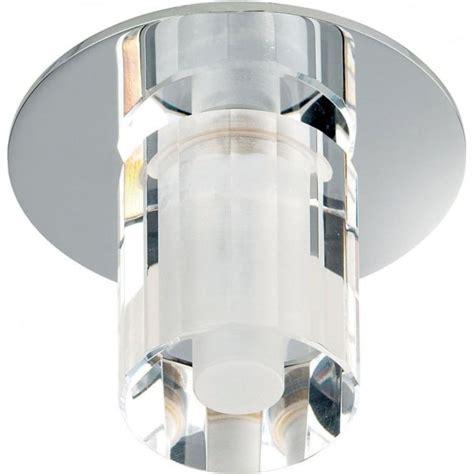 Enluce Bathroom Lighting Endon Lighting Enluce Single Light Halogen Recessed Bathroom Shower Light In Polished Chrome And