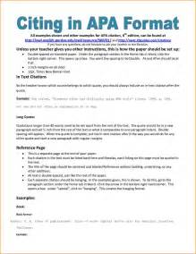 Apa Essay Format Reference Page by 7 Bibliography Apa Format Exle Bibliography Format