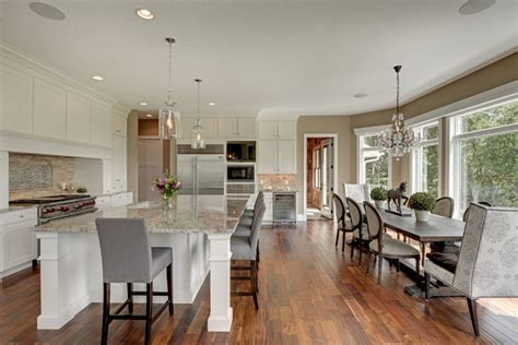 large kitchen dining room ideas leverty residence transitional kitchen minneapolis