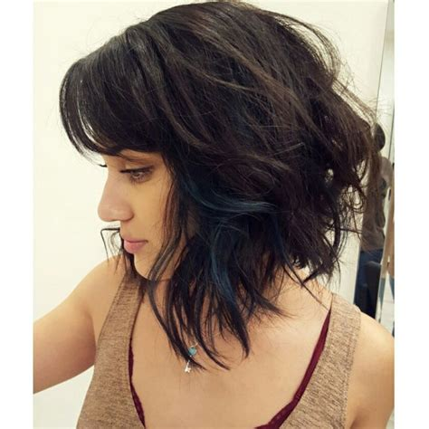 how to ask hairdresser for textured lob textured lob hairstyle textured lob haircut dark color and