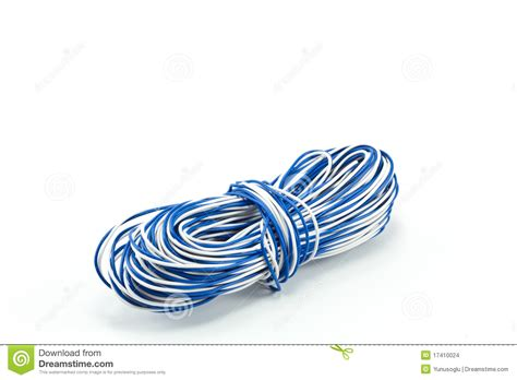 blue and white cable stock images image 17410024