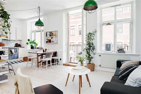 perfectly organized one room scandinavian crib with bright