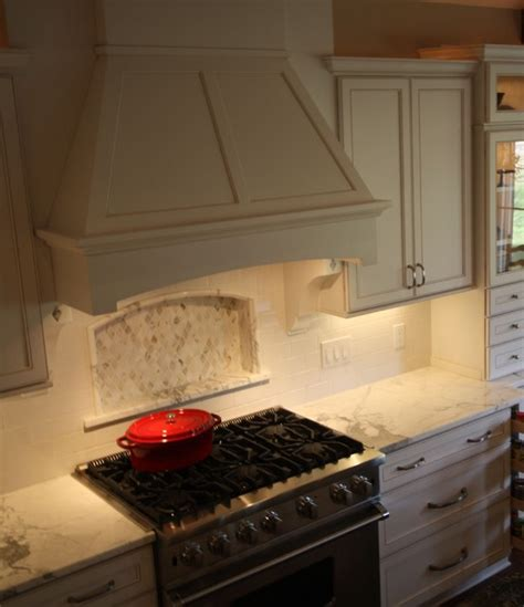 How To Build A Kitchen Bar wood range hood traditional kitchen cleveland by