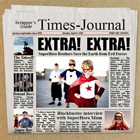 newspaper poster template photoshop elements tutorial newspaper