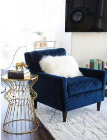 Armchair Blue Design Ideas Navy And Gold Design Inspiration Homedesignboard
