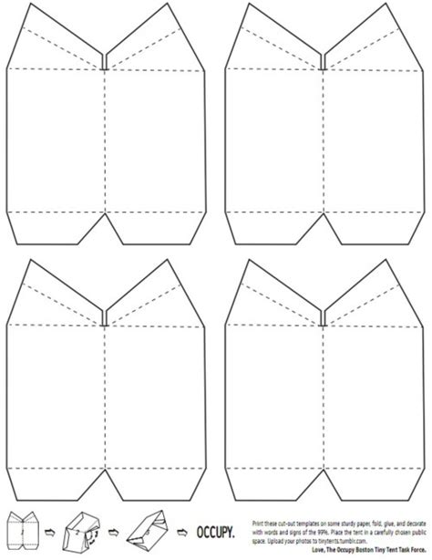 How To Make A Paper Tent - the gallery for gt tent template