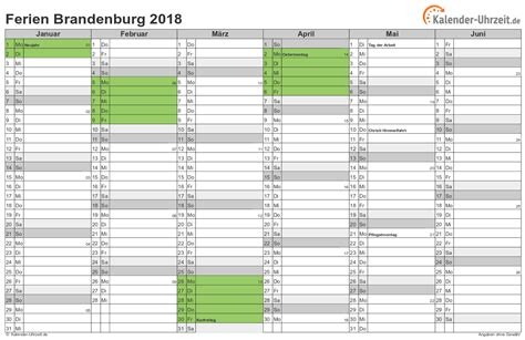 Kalender 2018 Ferien Kostenlos Ferien Brandenburg 2018 Ferienkalender Zum Ausdrucken