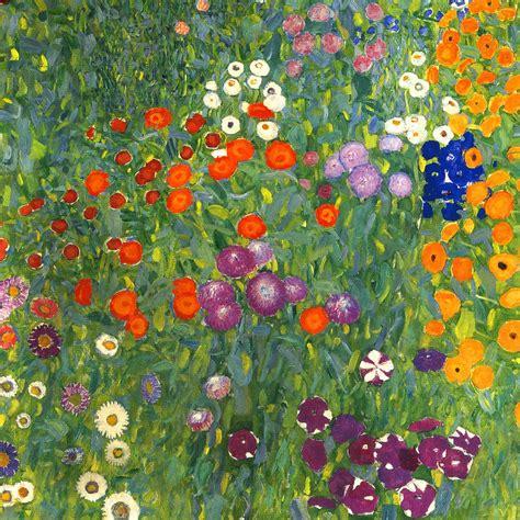 klimt fiori gustav klimt farm garden detail flowers vienna 24