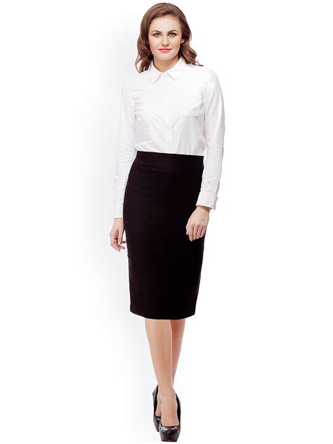 white shirt and black pencil skirt dress ala