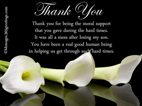 thank you for the comforting words funeral thank you notes 365greetings com