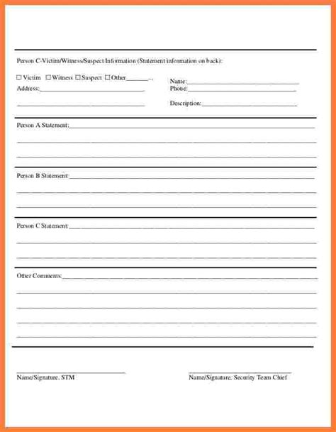 security incident report template word 11 security incident report form template progress report
