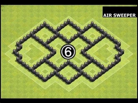 coc th6 layout with air sweeper 43 best images about clash of clans bases captain clash