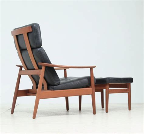 reclining easy chairs reclining arne vodder easy chair and footstool model fd