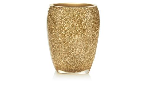 glitter bathroom accessories george home glitter tumbler gold bathroom accessories