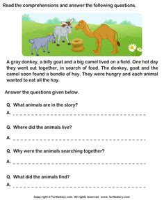 reading comprehension stories 5 worksheet turtlediary