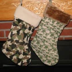 camo fleece personalized christmas stocking findgift com