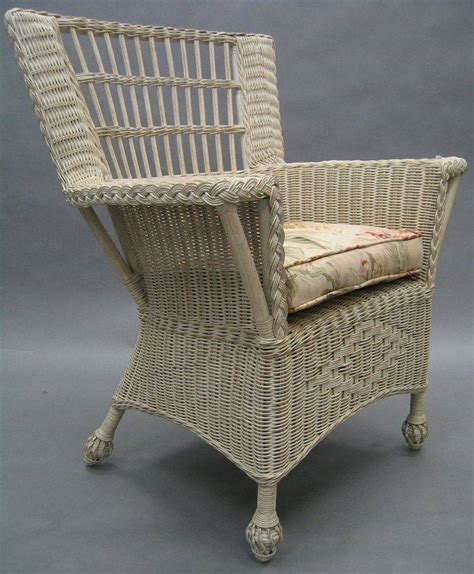 white wicker armchair armchair off white wicker flat arm with psw