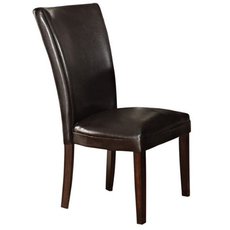 Cherry Dining Chair Steve Silver Hartford Leather Dining Chair In Cherry Hf500br