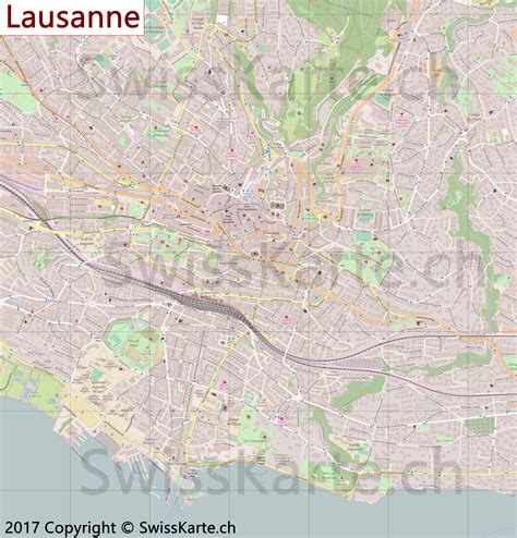 lausanne map map of lausanne