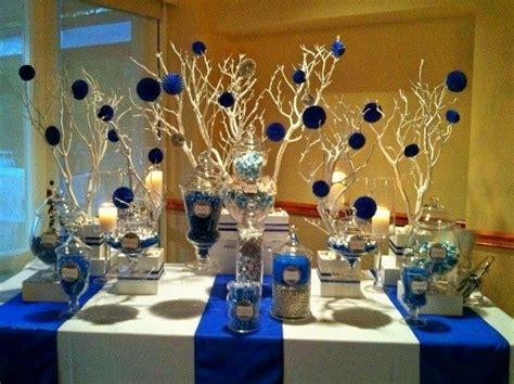 blue and white candy buffet   Blue candy buffet    Pinteres