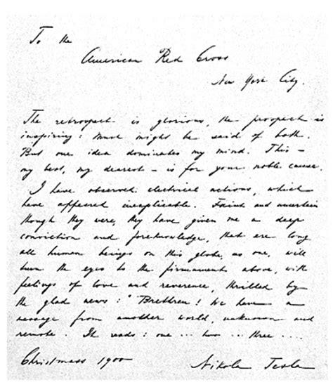 Tesla Letter The Extraterrestrial Messages Of Nikola Tesla