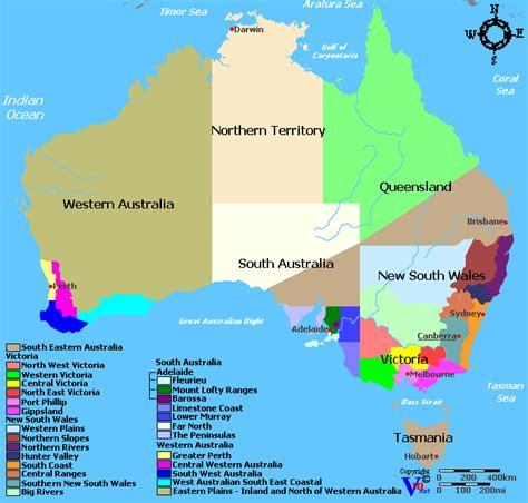 regional map of australia australia map regions my