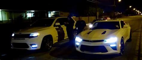 Jeep Vs Camaro 2016 Chevrolet Camaro Ss Vs Jeep Grand Srt Drag