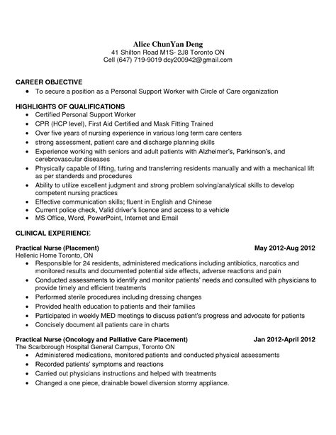 Sle Psw Resume by Resume Objective Statement Aged Care Bestsellerbookdb