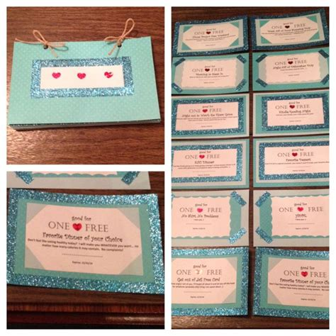 Handmade Coupon Book For Boyfriend - boyfriend coupons ideas regalos