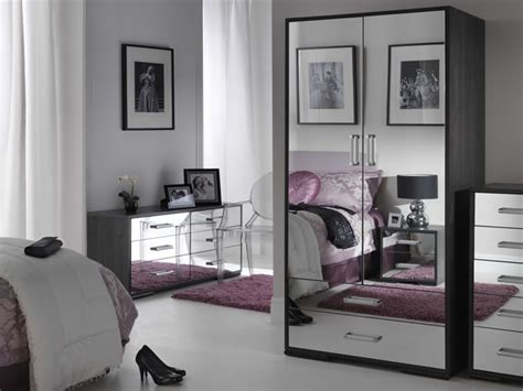 black mirrored glass bedroom furniture   home vintage modernity interior exterior