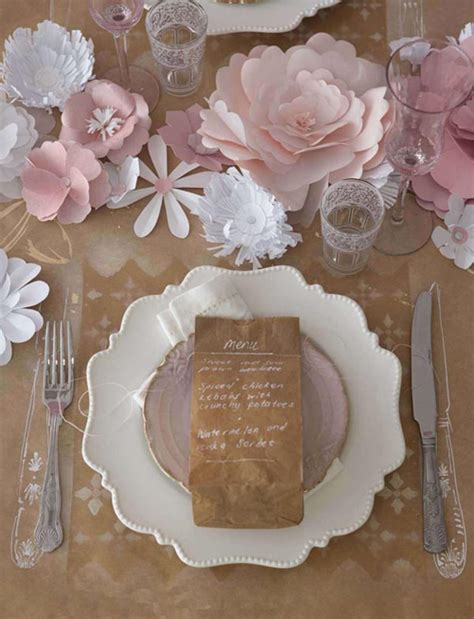 Paper Craft Ideas For Weddings - pretty tablescapes top wedding table styling ideas