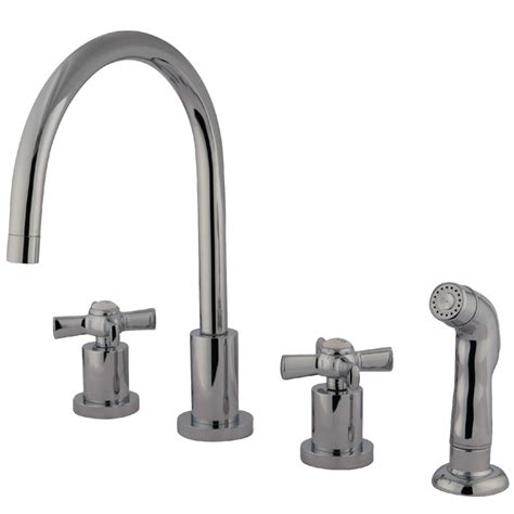 kingston brass kitchen faucets kingston brass ks8721zx widespread kitchen faucet
