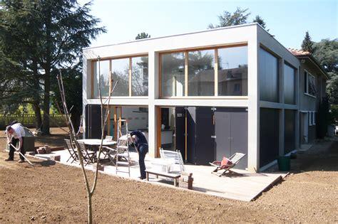 Maison Beton Bois by Extension B 233 Ton Bois D Une Maison 224 Caluire Et Cuire