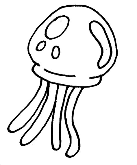 coloring pages of a jellyfish jellyfish coloring pages 5643