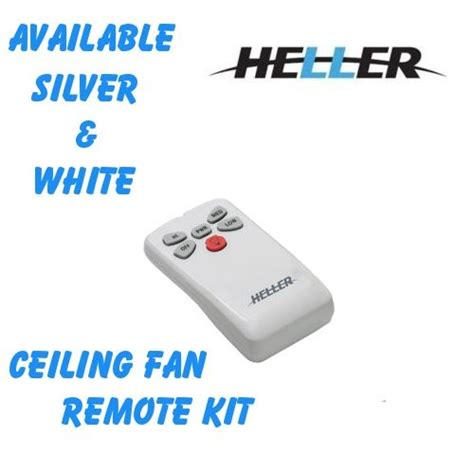 How To Install Ceiling Fan Remote by Heller Ceiling Fan And Light Remote Kit White